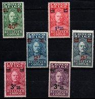 S073.-. BELGIUM CONGO. 1928. SC#: 130-135 - MH - SURCHARGED - SIR HENRY STANLEY - Belgisch-Kongo