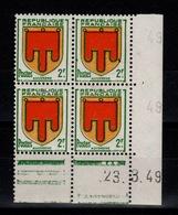 Coin Daté - YV 837 N** Armoiries Auvergne Du 23.3.49 - 1940-1949