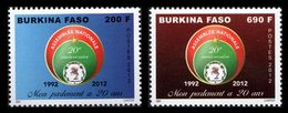BURKINA FASO 20ann.Parlement Burkinabé 2v 2012 Neuf ** MNH - Burkina Faso (1984-...)