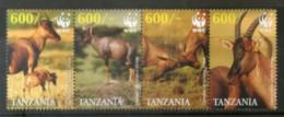 Tanzania 2006 WWF Topi Antelope Wildlife Animal Fauna Sc 2437 MNH # 392 - W.W.F.