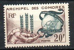 AFRIQUE - ARCHIPEL DES COMORES - 1963 - N° 26 - (Campagne Mondiale Contre La Faim) - Isole Comore (1950-1975)