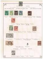 France - Bureaux En Chine - Ancienne Collection Sur Feuilles D'époque; - Collections (sans Albums)