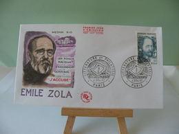 Émile Zola (littérature) - Paris - 4.2.1967 FDC 1er Jour Coté 3€ - FDC