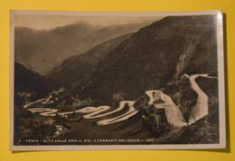 Cartolina Tenda Alta Valle Roia I Tornanti Del Colle 1941 - Cartoline