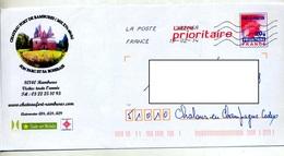 Pap Carte Rouge Flamme Chiffree Illustré Chateau Rambures - Prêts-à-poster:  Autres (1995-...)