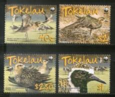 Tokelau 2007 WWF Pacific Golden Plover Birds Wildlife Animal Sc 349-52 MNH # 412 - W.W.F.