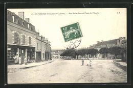 CPA St-Martin-d`Auxigny, Rue De La Gare Et Place Du Marche - Ohne Zuordnung