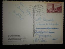 Andorre Français Carte D Andorre La Vielle 1955 Pour Yssuigeaux - Lettres & Documents