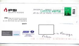 Pap Monument Paris Flamme Chiffree Sous Code Symbole Inegalité Entete Securité Incendie Extincteur - Prêts-à-poster:  Autres (1995-...)