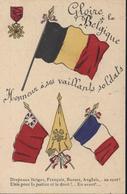 CPA Guerre 14 Gloire à La Belgique Honneur à Ses Vaillants Soldats Drapeaux Alliés France Belgique Russie Angleterre MDE - Guerre 1914-18