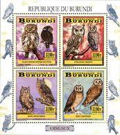 BURUNDI Oiseaux-Chouettes/Hiboux 4v  Neuf ** MNH - 2010-..: Nuovi