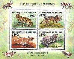 BURUNDI Chats 4v 3690F  Neuf ** MNH - Burundi