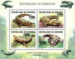 BURUNDI Crocodiles 4v 1180 F  Neuf ** MNH - 2010-..: Neufs