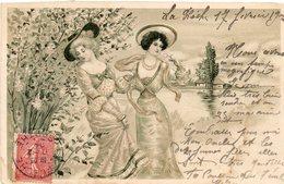 Carte Gauffree..jeunes Femmes - Women