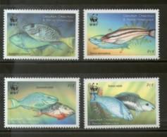 Grenada Carriacou 2001 WWF Parrot Fishes Marine Life Animal Sc 2294 MNH # 288 - W.W.F.