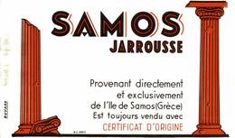 RARE BUVARD SAMOS JARROUSSE - Buvards, Protège-cahiers Illustrés