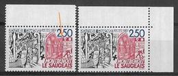 France 1987 - Variété - Montbenoit Du Saugeais - Y&T N° 2495 ** Neuf Luxe Voir Descriptif. - Errors & Oddities