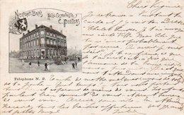 Nieuport-bains  Hotel Cosmopolite C.Peeters Circulé En 1900 - Nieuwpoort