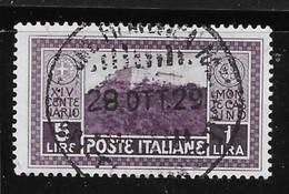 ITALIA REGNO 1929 - MONTECASSINO - N. 267 Usato - Cat. 300 € = Solo Al 10 % - Lotto N. 1731b - 1900-44 Victor Emmanuel III.