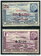 Saint Pierre Et Miquelon (1944) N 312 à 313 * (charniere) - Neufs