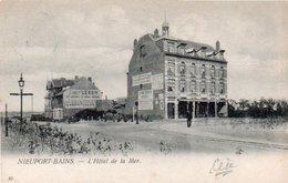 Nieuport-bains  Rare L'hotel De La Mer Animée Publicité Sur Le Coté De La Maison Circulé En1900 - Nieuwpoort
