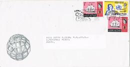 33404. Carta GIBRALTAR 1968. Slogan Come On GIB - Gibilterra