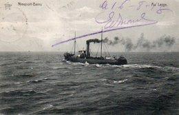 Nieuport-bains  Au Lage Circulé En 1918 - Nieuwpoort