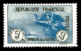 N°155, Orphelins, 5F +5F Noir Et Bleu, Très Bon Centrage, Frais, TTB (certificat)  Qualité: *  Cote: 2625 Euros - Francia