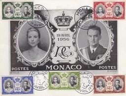 MONACO - CP GRAND FORMAT  COMMÉMORATION MARIAGE RAINIER III AVEC GRACE KELLY  19 AVRIL 1956 / 6327 - Cartas