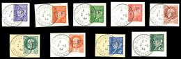 ROCHECORBON, N°6 à 9, 11, 12, 14, 15 Et 16, Les 9 Valeurs SUP (certificat)  Qualité: O  Cote: 1015 Euros - Liberation