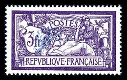 N°206c, Merson, 3F Violet Et Bleu Centre Déplacé, Très Bon Centrage, SUP (certificat)  Qualité: **  Cote: 562 Euros - Varietà E Curiosità