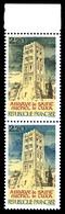 N°2351, St Michel De Cuxa, Couleur Noire Au Lieu De Bleu (ciel Noir) Tenant à Normal En Paire Bdf. SUP (signé Brun/certi - Varieties: 1980-89 Mint/hinged