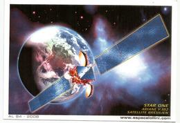 Lancement Du Satellite De Télécommunication Bresilien STAR ONE C2. (Ariane 5ECA Carrier Rocket Kourou)  Carte Souvenir - Cartoline Maximum