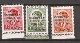 1941  15-17 FIUMANO KUPA ,,,-ITALIA OCCUPAZIONE LAIBACH SLOVENIA  Hinged - Occupation 2ème Guerre Mond. (Italie)