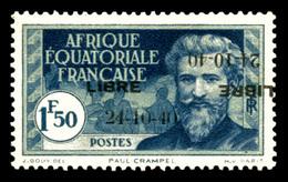 N°140Db, 1f50 Bleu: Double Surcharge Dont Une Renversée. TTB (certificat)  Qualité: *  Cote: 500 Euros - A.E.F. (1936-1958)