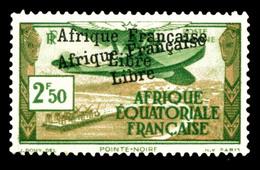 N°15b, 2f50 Vert Et Brun: Surcharge Double. TTB (signé Brun)  Qualité: *  Cote: 330 Euros - A.E.F. (1936-1958)