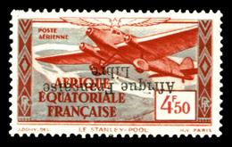N°17, 4f 50 Rouge-brique Et Bleu Gris: Surcharge 'France Libre' Renversée, TB  Qualité: * - A.E.F. (1936-1958)