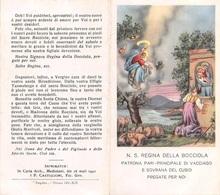 """08423 """"N. S. REGINA DELLA BOCCIOLA - PATRONA PARI - PRINCIPALE DI VACCIAGO - SOVR. DEL CUSIO """" IMM. REL. ORIG. - Santini"""