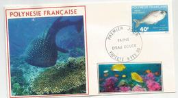 Poissons De Polynesie, Enveloppe De Papeete 1990 - Lettres & Documents