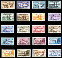 N°212A/231A, Série Complète Avec Surcharge Rouge, Les 20 Exemplaires SUP. R. (signés Calves/certificat)  Qualité: **  Co - Unused Stamps