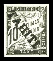 N°6, 10c Noir Surchargé TAHITI (tirage 100 Exemplaires), SUP (signé Brun/certificat)  Qualité: *  Cote: 530 Euros - Tahiti (1882-1915)