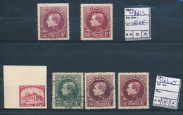 BELGIUM  SMALL SELECTION LH OR USED - 1929-1941 Big Montenez