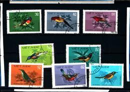 6430b)   Vietnam 8 Val. 1981ANIMALI-FAUNA UCCELLI-SERIE  -USATA - Vietnam