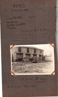 Page D'album Avec 1 Photo Légendée NIMES 05/10/1930 TAUREAUX - Places