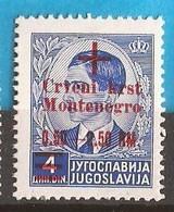 1944   32  ROT KREUZ   DEUTSCHE BESETZUNG  MONTENEGRO CRNA GORA  MNH  POSTFRISCH - Occupation 1938-45