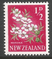 New Zealand. 1960-66 Definitives. ½d MH. SG 781 - Unused Stamps