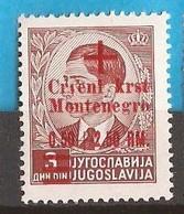 1944   31  ROT KREUZ   DEUTSCHE BESETZUNG  MONTENEGRO CRNA GORA  MNH  POSTFRISCH - Occupation 1938-45