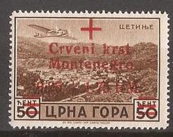 1944   30  ROT KREUZ   DEUTSCHE BESETZUNG  MONTENEGRO CRNA GORA  MNH  POSTFRISCH - Occupation 1938-45