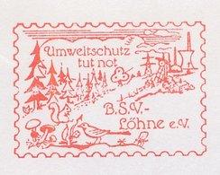 Meter Cover Germany 1994 Mushroom - Squirrel - Bird - Mushrooms