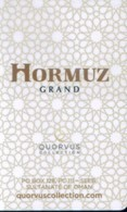 Oman Hotel Key, Hormuz Grand Hotel Muscat  (1pcs) - Cartas De Hotels